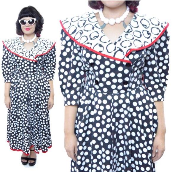 Vintage Dresses | 80s Choon California Polka